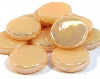 18mm Round Gloss - Light Peach Pearlised - 50g