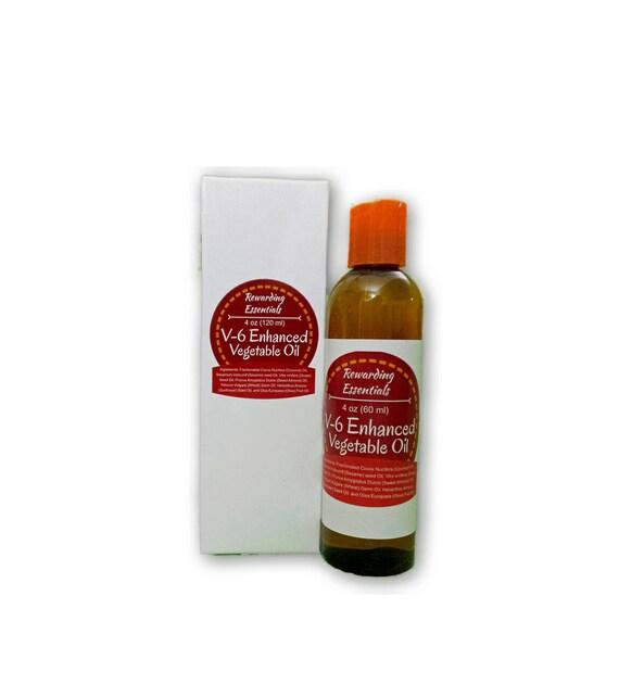 V-6 Enhanced Vegetable Oil Carrier Oil Dilute Essential Oil for your own blend 4oz