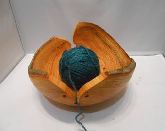 Extra large double yarn bowl,wooden darning bowl,wooden knitting bowl.wooden yarn bowl