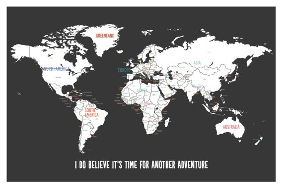On sale customized world map adventure map travel map on sale customized world map adventure map travel map travel poster world travel wall art personalized travel map custom map art gumiabroncs Choice Image