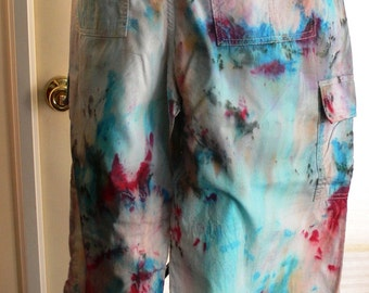 faded glory tie dyed pants size 12