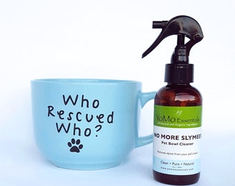 NO MORE SLYMEES Pet Bowl Cleaner  Eliminates Slymee residue on Pet Dishes for a Healthy Pet. Dog Bowl Cleaner