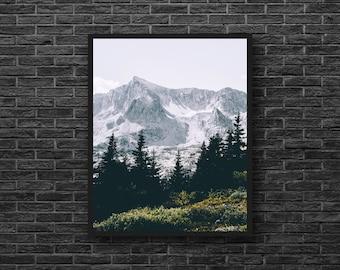 Mountains Print - Mountain Forest Photo - Mountain Photography - Nature Photography - Vertical - Mountain Wall Art - Nature Wall Decor