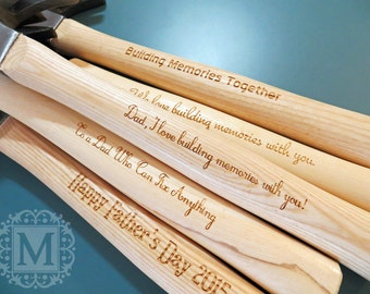 Handyman Gift - Engraved Hammer Personalized with Your Message, Business Name, Initials, Name, etc.