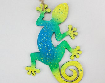 Lizard Gecko  Christmas Ornament (blue)