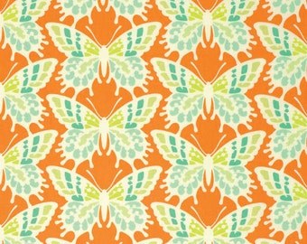 Half yard - Tangerine Flutterby - Heather Bailey - Clementine - Free Spirit cotton quilt fabric