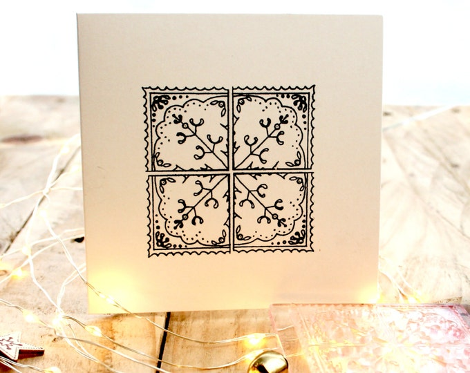 Mistletoe Tile Stamp - Mistletoe Stamp - Christmas Mistletoe Stamp - Gift Wrap Stamp - Christmas Card Making Stamp - Clear Christmas Stamp
