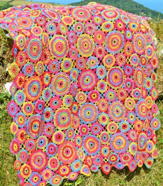 Kissing Circles Crochet Afghan/Blanket PDF CROCHET PATTERN