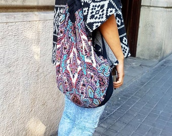 Boho backpack bag, ethnic backpack