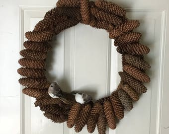 Empty Nest Pine Cone Wreath