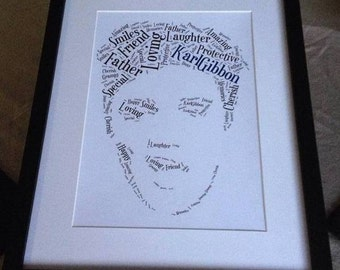 A4 Personalised Word Art Elvis Print (UK ONLY)/Download