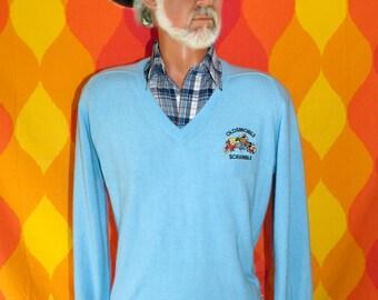 vintage 80s golf sweater DISNEY oldsmobile scramble tournament v-neck mickey mouse Medium titleist preppy
