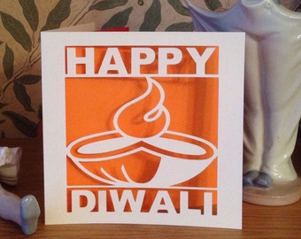 Diwali Card - Papercut,  Paper Cut, Happy Diwali,