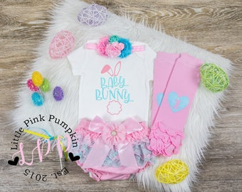 First Easter Outfit Girl 1st Easter Outfit Baby Girl Easter Outfit Newborn Easter My First Easter Girl Newborn Easter Outfit Baby Bunny