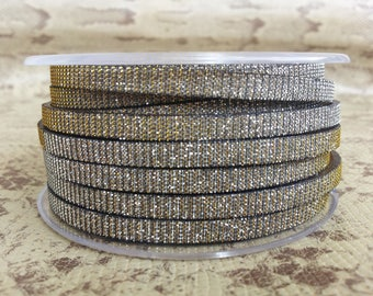 flat leather silver and gold iridescent high quality European 5 mm