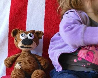 Biff the Angry Bear PDF Crochet Toy Pattern