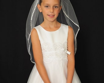 Daisy Chain Veil for First Communion and Flower Girls