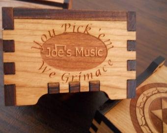 Humorous Guitar Pick Box