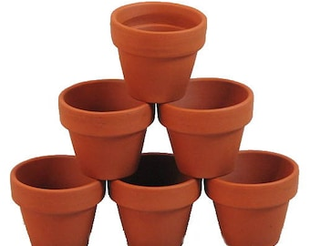 "10 - 3.5"" x 3"" Clay Pots - Great for Plants and Crafts"