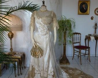 1898 WORTH Evening Gown, House of Worth, Victorian Dress, Antique Dress, Antique Gown, Paris, ca. 1898
