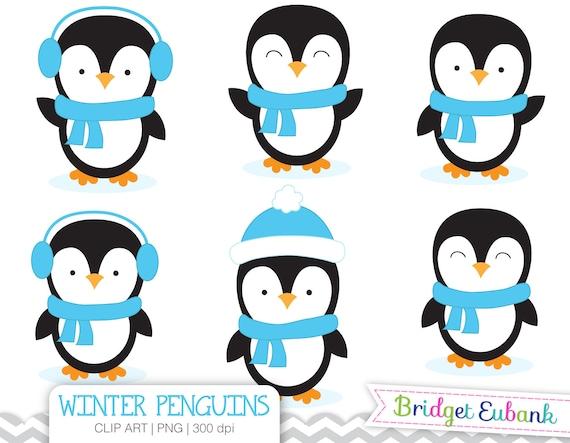 penguin clip art boy penguins clip art penguin clipart blue rh etsy com