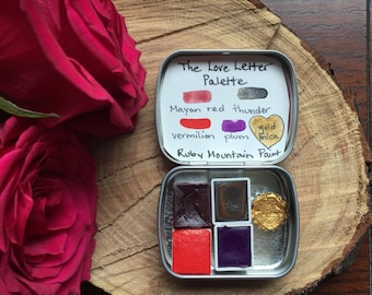 The Love Letter Palette, a set of handmade watercolors