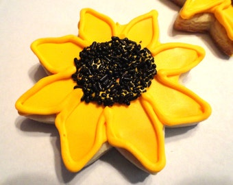 Sunflower cookies (2 dozen)