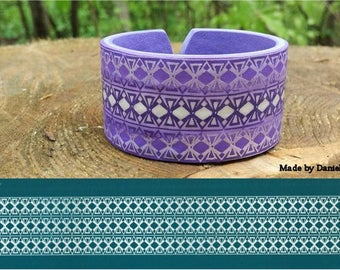 N02 - Line ribbons - for bracelet, THERAINBOW silk screen for polymer clay