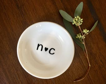 Engagement ring dish/Inital ring dish/ engagement gift/ ring dish