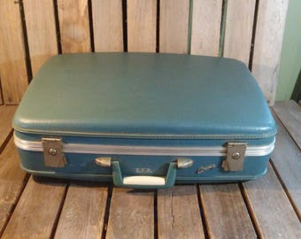 Vintage Blue Suitcase, Airway Luggage