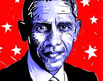 Barack Obama 8x10 Digital Print