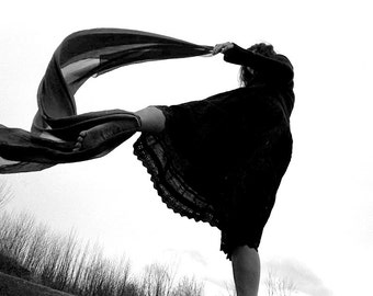 Zoja - Contemporary DancerIII - dance photography, fine art black and white photograph, 8x10 paper