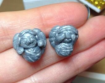 Doctor Who Weeping Angel stud earrings
