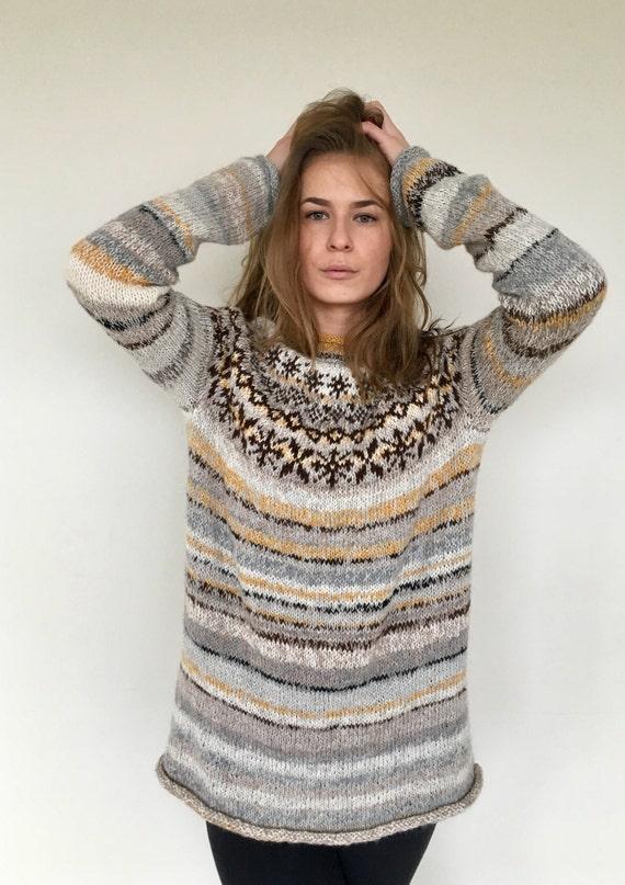 Icelandic sweater Fair Isle sweater Women's sweater Alpaca