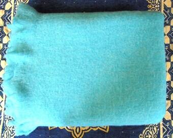 Mohair blanket, Mohair throw shawl, Sea blue throw