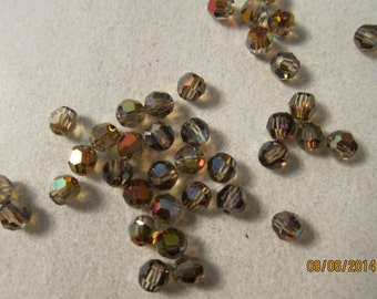 4mm, Swarovski, Art 5000, Faceted Round Crystal Beads, Crystal Mahogany - Available in 6, 10 & 20 Bead Pkgs, Larger Pkgs and Factory Packs