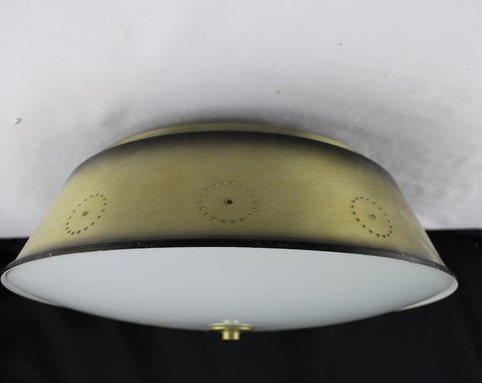 Copper UFO Ceiling Lamp Vintage 1950's  Flush Mount Ceiling Light Fixture Lightcraft of California