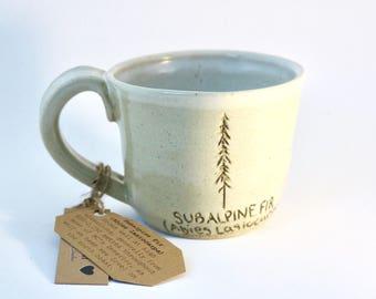 BC Subalpine Fir Mug (Vintage Cream and Snowy White)