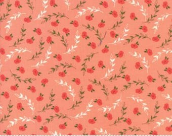 INSTOCK Creekside Posies Coral 37532 17 by Sherri and Chelsi from Moda -1 yard