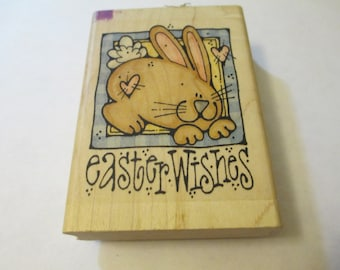 Easter Wishes Wooden Stamp Craft Supplies