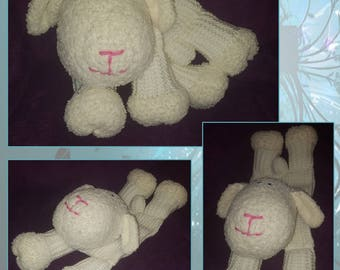 Hand Knitted Sheep Pyjama Case