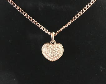 Copper Heart Bling Necklace