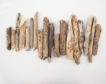 18x CHUNKY DRIFTWOOD PIECES, short and chunky, drift wood pieces, natural organic, country brown, rustic, coastal, salvage, reclaimed wood