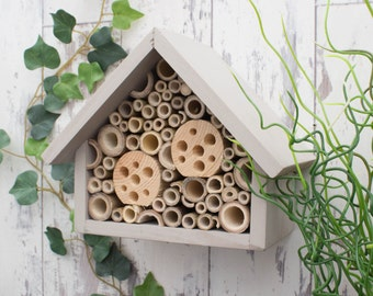 Bee Hotel, Bee House, Large, in 'Muted Clay'. Can be personalised.