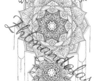 A3 MANDALA ORIGINAL ARTWORK