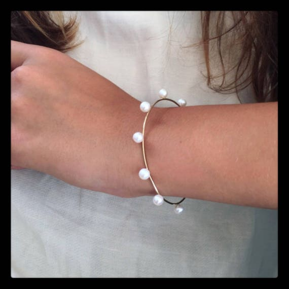 The Sarah Pearl Bracelet  14k White Gold and Freshwaterpearls
