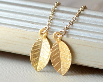 Gold Vermeil Earrings, Gold Filled Cable Threaders, Earring Strings, Tiny Leaf, Dainty Simple Jewelry