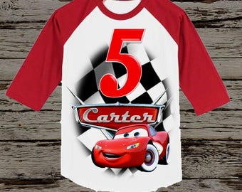 Disney Cars Birthday Shirt - Cars Shirt - Tank Top Available