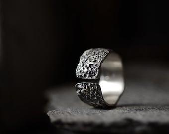 Dwo Scythe Ring Sterling Silver Statement Ring Joanna