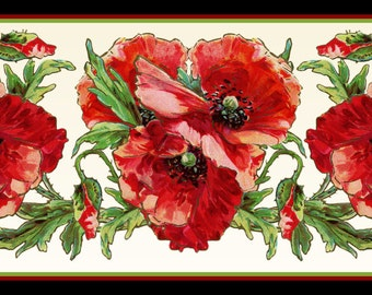 Red Poppy Flower Large Refrigerator Magnet